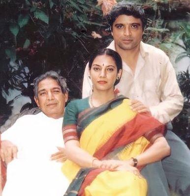 Shabana Azmi with her father