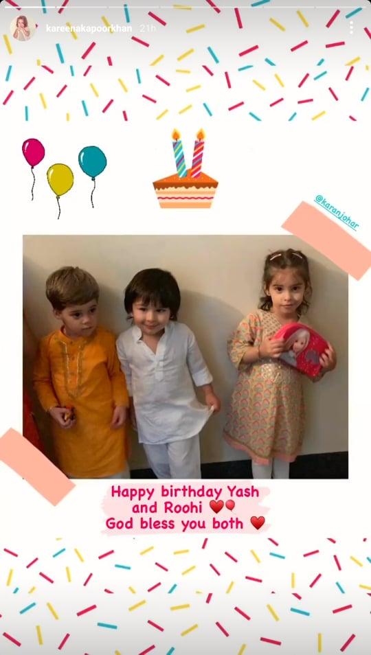 Taimur Ali Khan, Yash Johar and Roohi Johar