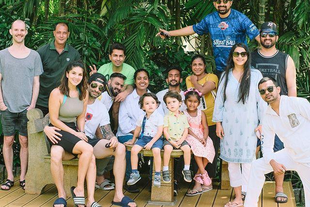 Sunny Leone, Daniel Weber, Nisha Kaur Weber, Asher Singh Weber and Noah Singh Weber