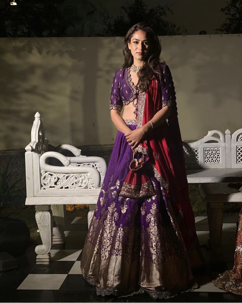 Mira Rajput In Purple Lehenga