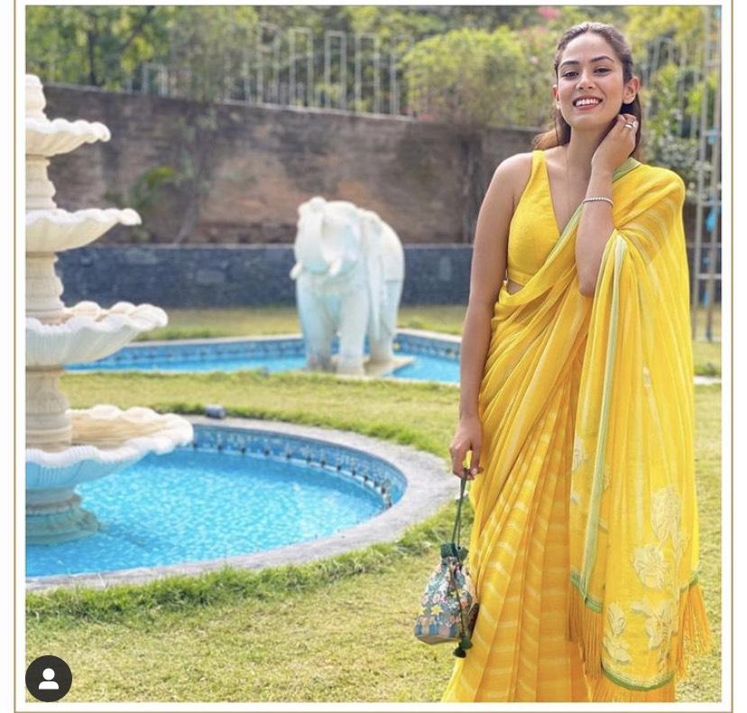 Mira Rajput Kapoor In Saree
