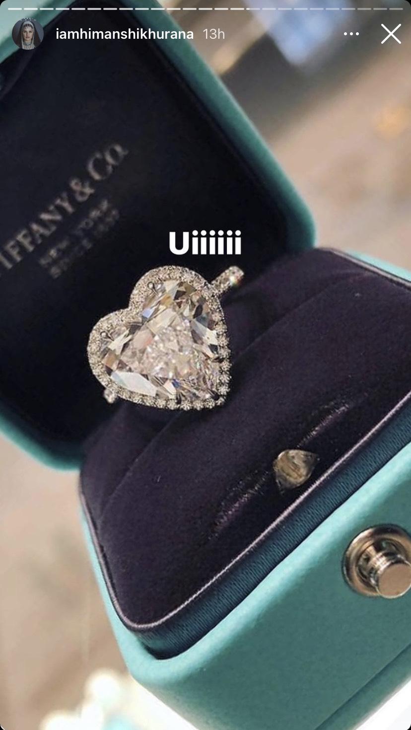 Himanshi Khurana Ring