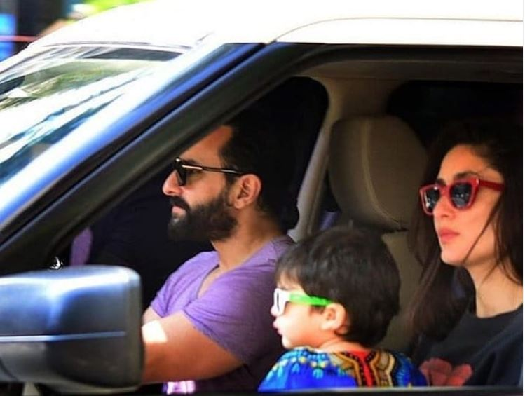 Saif with Kareena and Taimur
