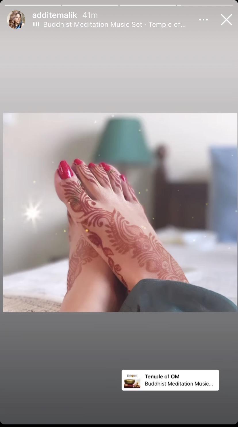 Aditi Malik Godh Bharai Rasam