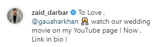 Gauahar Khan Zaid Darbar Wedding Movie Qubool Hai Moment Romantic Dance