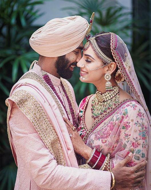 Jasprit Bumrah and Sanjana Ganeshan