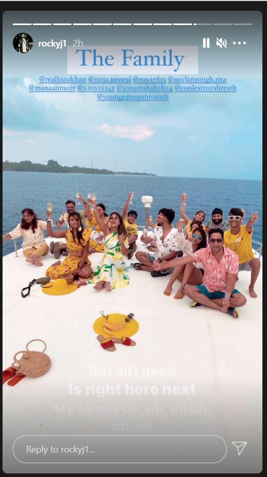 Hina Khan Rocky Jaiswal Maldives vacation