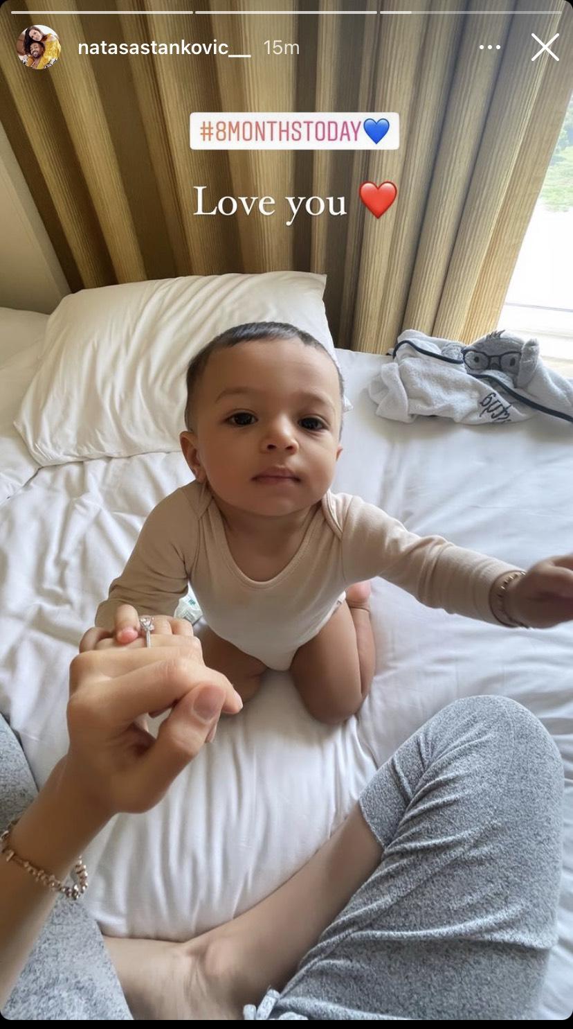 Natasa Stankovic Baby Boy Agastya's Eigth Month Birthday