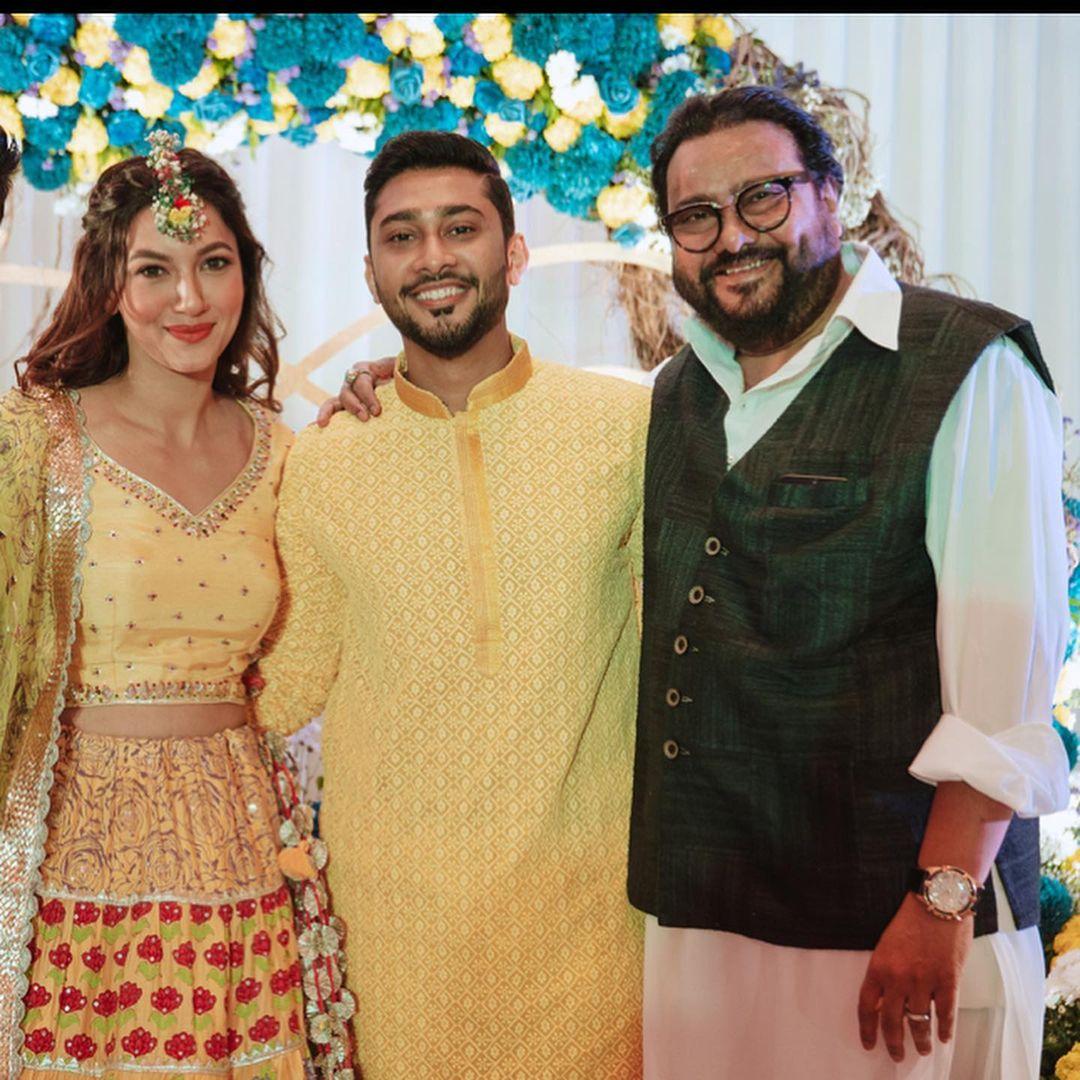 Ismail Darbar, Gauahar Khan and Zaid Darbar