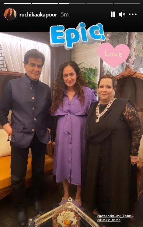 Jeetendra, Shobha Kapoor and Ruchikaa Kapoor