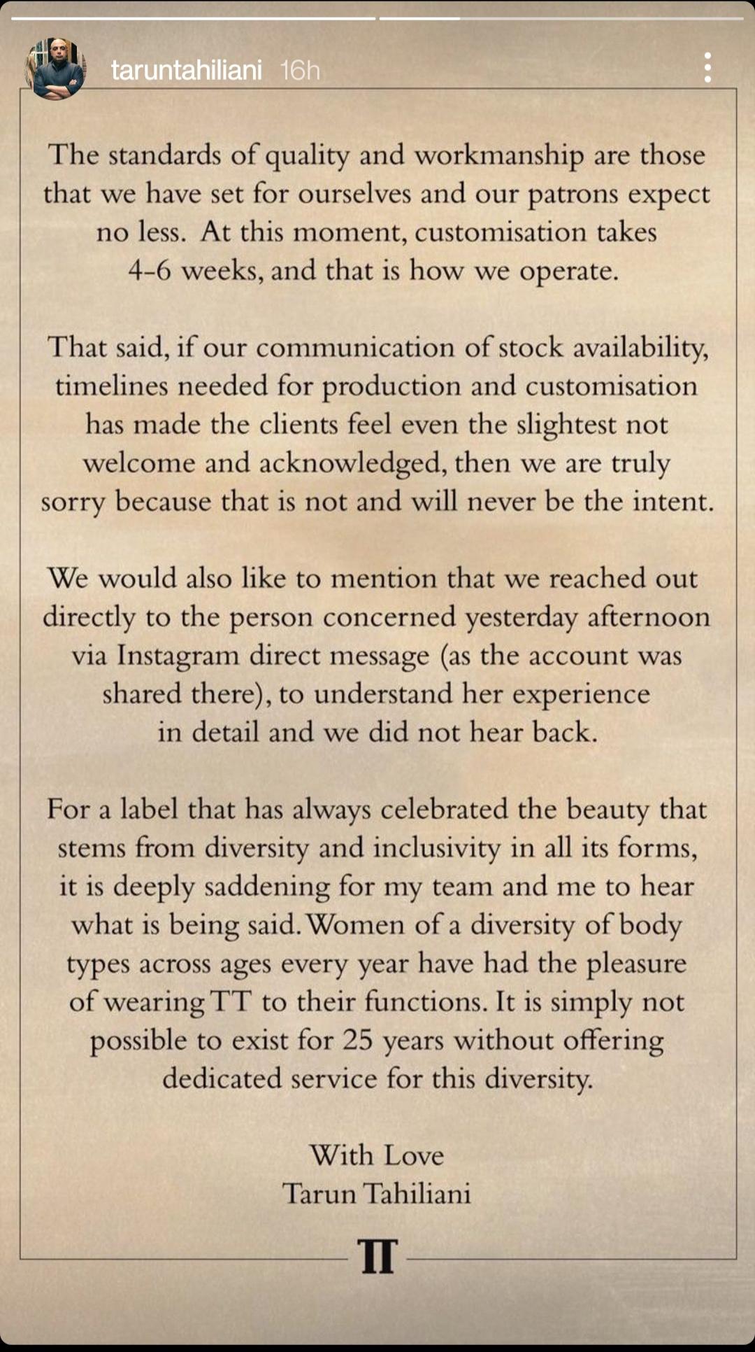 Tarun's post