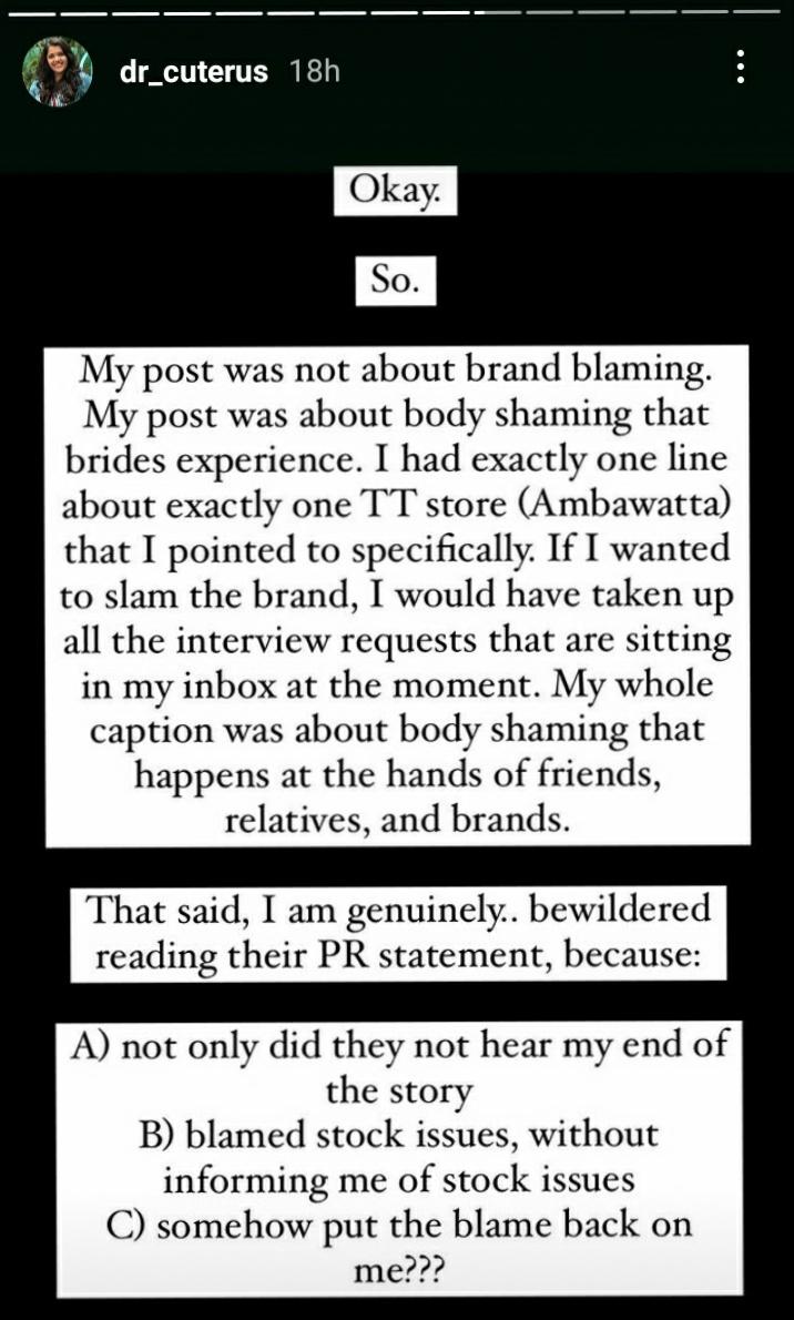 Tanya's post