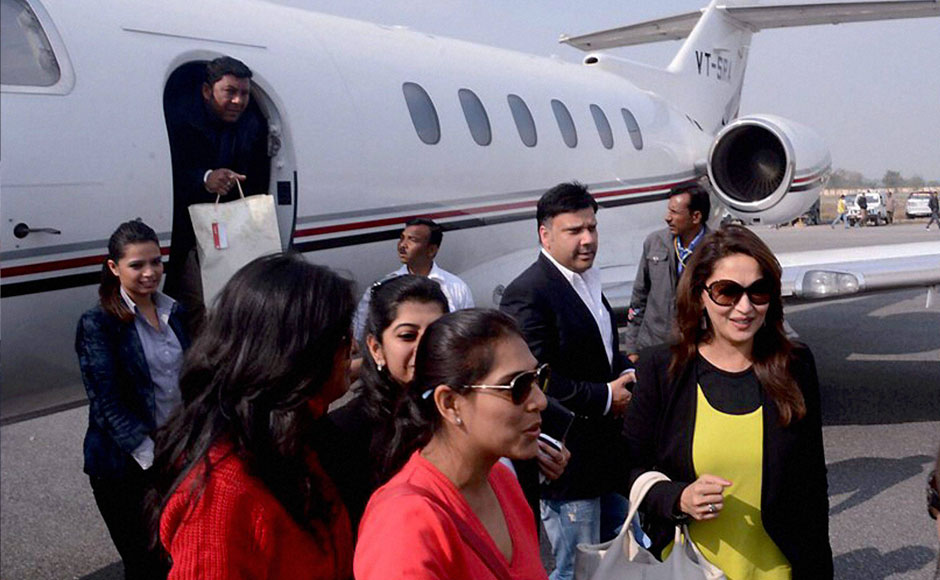 Madhuri Dixit private jet