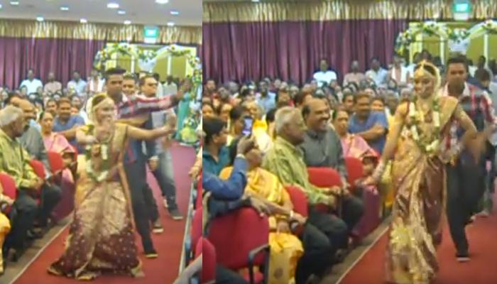 When This South Indian Bride Danced Her Way To Mandap Everyone At Venue Got Shocked And Surprised