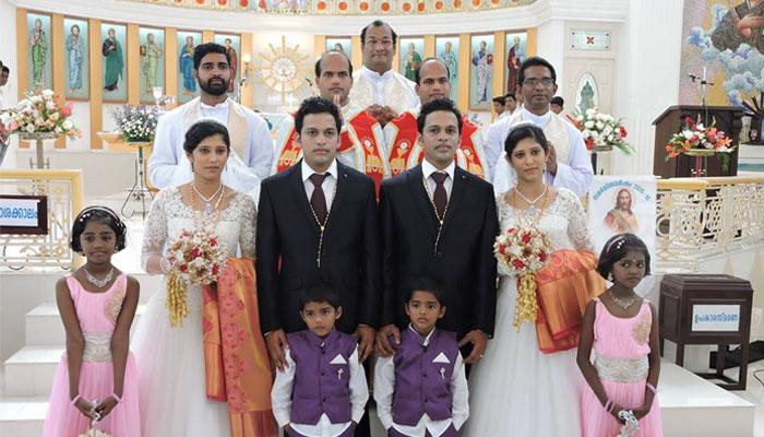 Twin Brothers Marry Twin Sisters By Twin Priests And Twin Page Boys And Flower Girls In Kerala