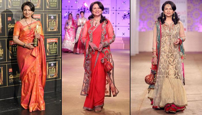 7 Absolutely Stunning Looks Of Sharmila Tagore For The Mother Of Soon-To-Be Brides And Grooms