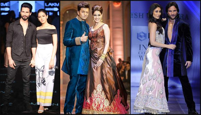 Top 7 Bollywood Couples Who Sizzled On The Ramp Together