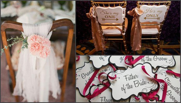 7 Beautiful And Unique Ways To Decorate Chairs At Your Wedding Venue