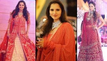 8 Striking Bridesmaid Dresses That Sania Mirza Sashayed At Her Sister Anam's Wedding