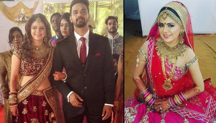 Here Are Some Beautiful Pictures From The Wedding Reception Of 'Kkusum' Actress Rucha Gujarathi