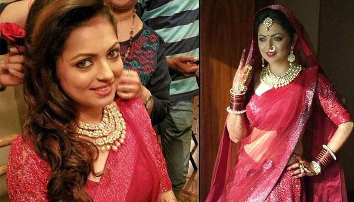 Drashti Wore The Same Lehenga At Her Shaadi And Reception, Used This Trick To Look Different