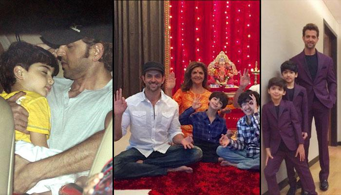 8 Adorable Moments Of Hrithik Roshan With His Sons Hrehaan And