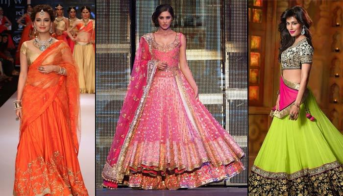 A Complete Guide On How To Don Citrus Colour Lehengas On Your Wedding