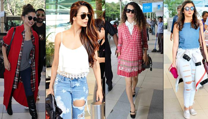 Airport Style: 8 Bollywood Divas Who Will Inspire You To Look Fabulous On The Way To Your Honeymoon
