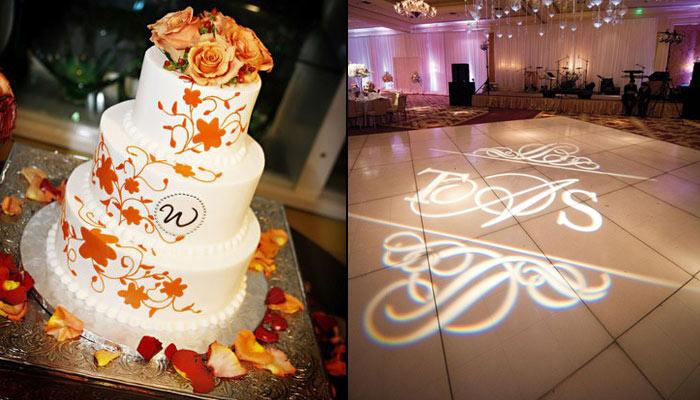 9 Brilliant Ideas To Flaunt Your Monogram On Your Wedding Day