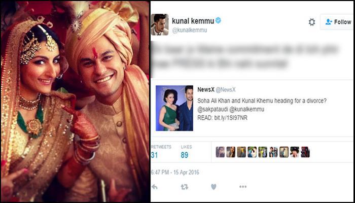 Kunal Khemu Rubbishes His Divorce Rumours To Soha Ali Khan In Salman Khan Style!