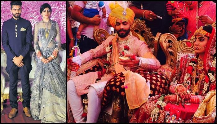 Exclusive Pictures Of Indian Cricketer Ravindra Jadeja And Rivaba Solanki's Wedding Reception