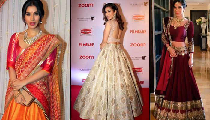 12 Best Looks Of Fashionista Sophie Choudry That Every Bride-To-Be Can Follow