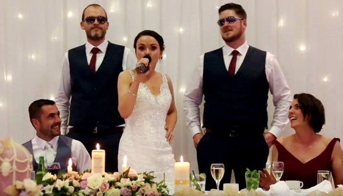 This Bride's Wedding Toast To Her Husband Had An Unexpected Twist