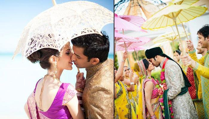 Stunning Photographs That Will Inspire You To Use Umbrellas For Your Wedding Shoot