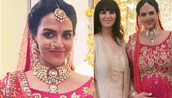 Esha Deol Looked Royal In Red Anarkali By Neeta Lulla On Her 'Godh Bharai'