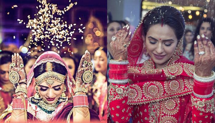 The Reason Behind An Indian Bride Throwing Rice During Her 'Vidaai' Is Beautiful Beyond Words