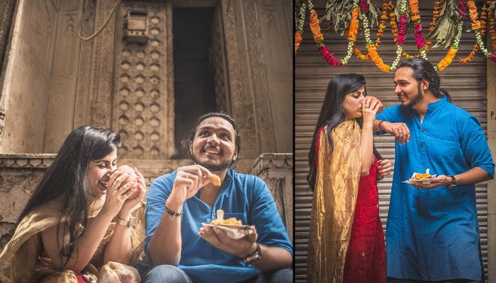 This Couple Chose Love For Food Over Typical Romance As Their Pre-Wedding Shoot Theme