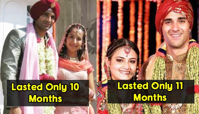 8 Shortest Marriages That Bollywood And Telly World Has Ever Witnessed