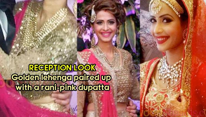 Married A Diamond Merchant, Dimple Jhangiani Looked Ravishing In A Gold Lehenga On Her Reception