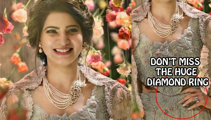 Samantha Wore Her 'Dupatta' Like A Jacket For Her Wedding Reception And The Result Is Stunning