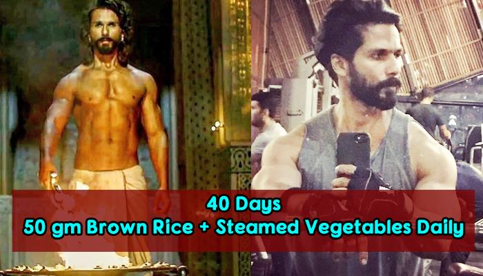 Shahid's Fitness And Diet Routine For 'Padmavati' Is Every Vegetarian Fitness Goals
