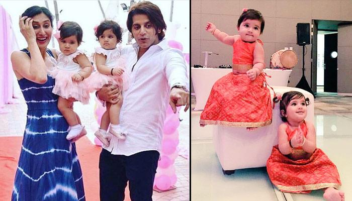Karanvir-Teejay's Twin Babies Bella And Vienna Are Giving Some Serious Twinning Fashion Goals