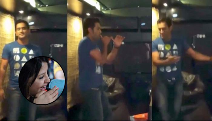 MS Dhoni Shakes His Leg On 'Desi Boyz' Song, Wife Sakshi Bursts Into Laughter