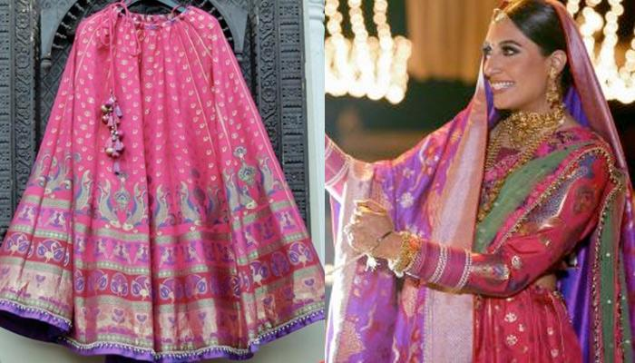 Rajputana Bride Designed Her Own Lehenga With Banarasi Weaves To Get Royal Maharani Look