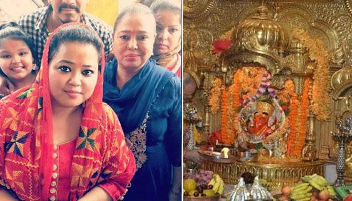 Bharti Visits Sidhivinayak Temple With Hubby-To-Be Haarsh, They Offer 1st Invite To The God