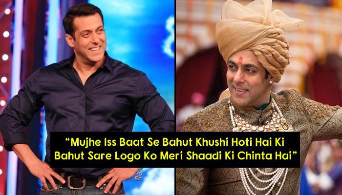Salman Khan Finally Answers To The Favourite Question Of The Nation: 'Salman Ki Shaadi Kab Hogi?'