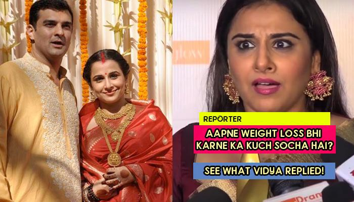 Marriage Didn't Limit Vidya's Career; Slams Reporter Who Asked Her About Her Weight