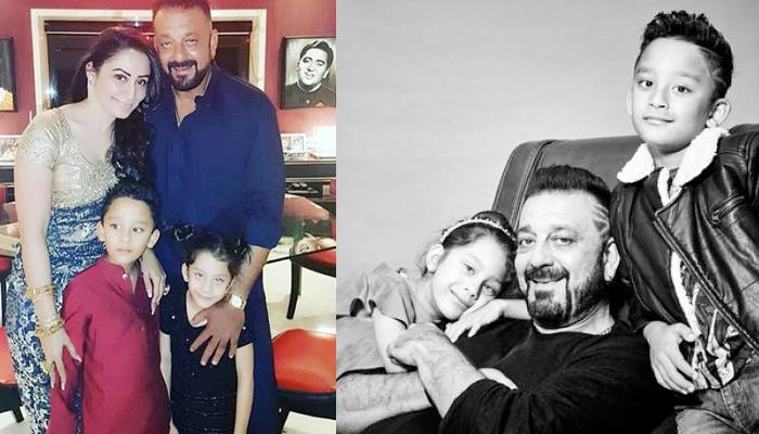 Sanjay Dutt's Adorable Photoshoot With His Twin Kids Is Pure Father Goals