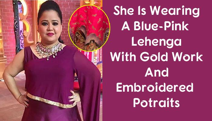 Bharti Finally Reveals Her Wedding Outfit, She Looks Royal Princess In This Unique Pink-Blue Lehenga