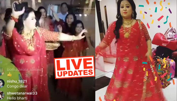 LIVE UPDATES: Bharti Is Wearing All Gold On Her Bangle Ceremony, Looking Like A 'Rani'